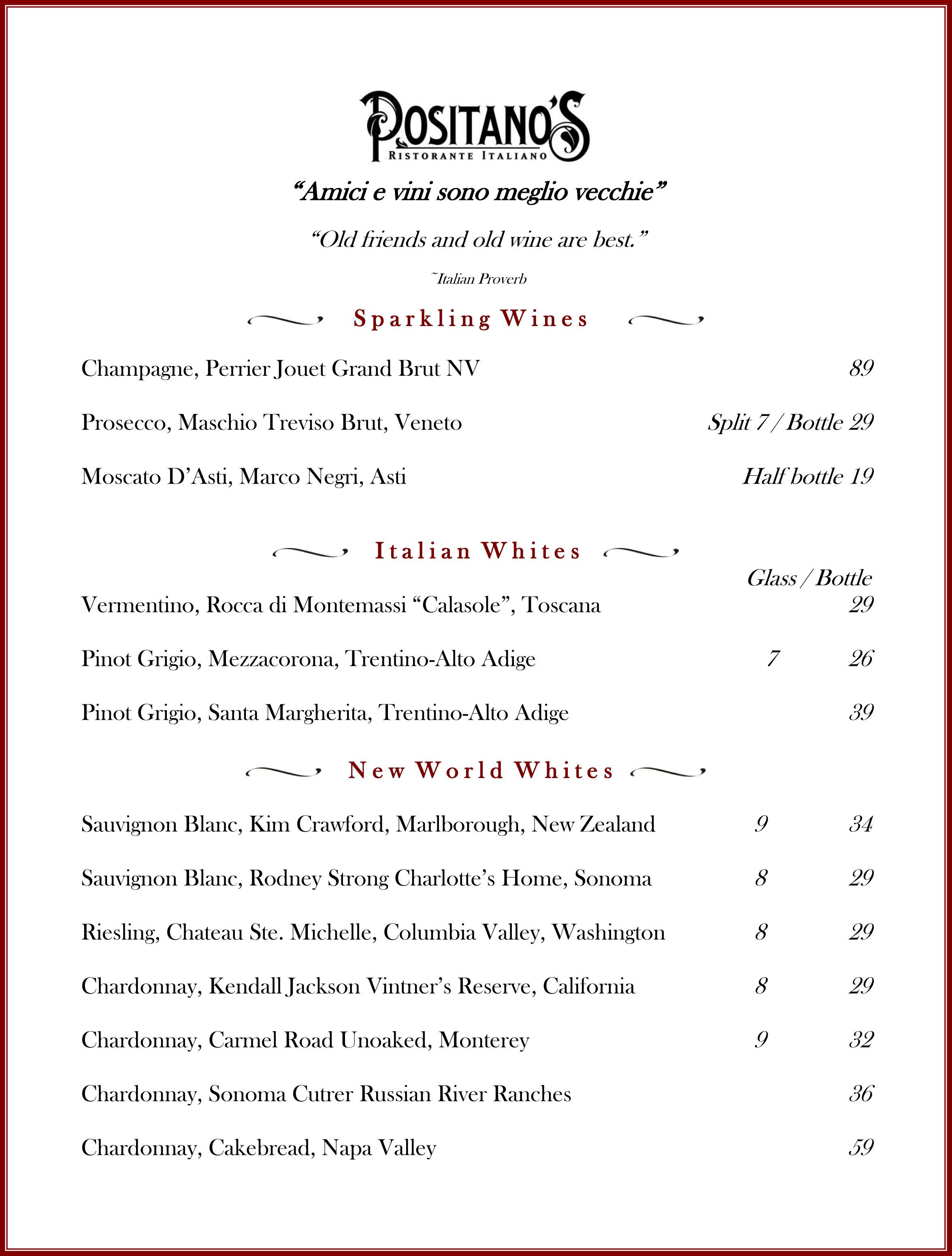 Wine List September 2015 pg 1